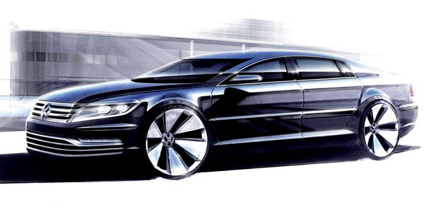Volkswagen Phaeton concept, expected for 2015