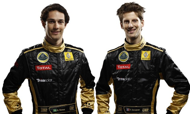 Bruno Senna and Romain Grosjean