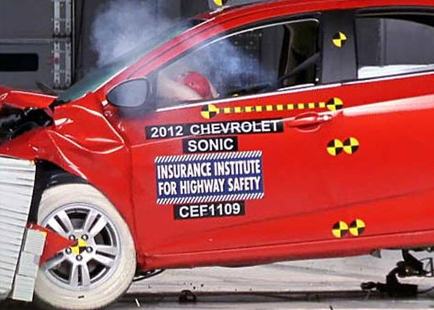 2012 chevrolet sonic crash test