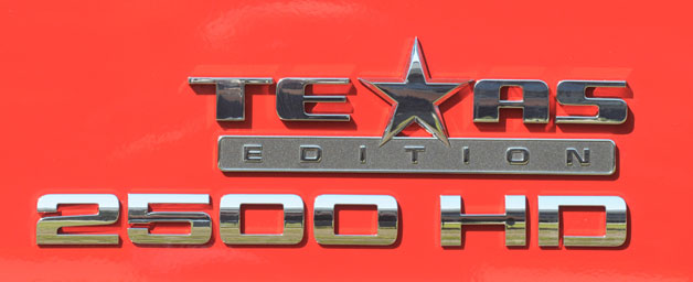 Chevrolet Silverado 2500 Texas Edition Badge
