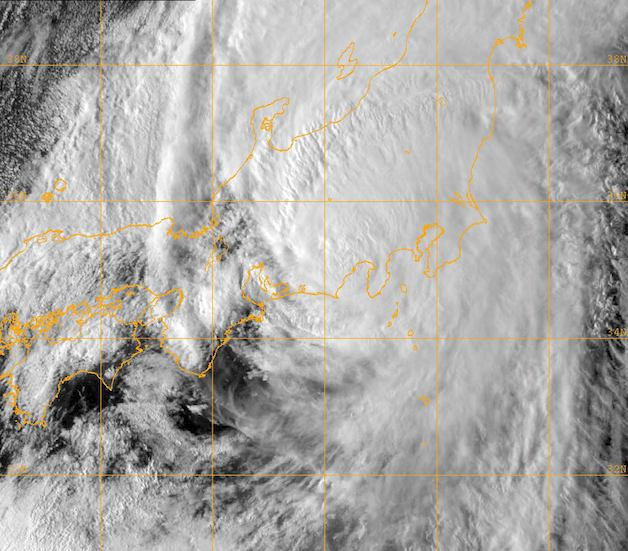 Typhoon Roke over Japan