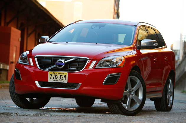 2011 Volvo XC60 R-Design - front three-quarter view, red