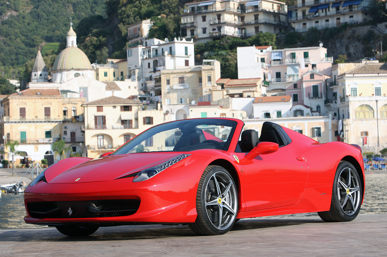2012 ferrari 458 spider w video autoblog. Black Bedroom Furniture Sets. Home Design Ideas