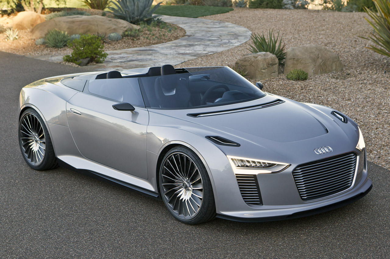 2014 audi e tron spyder w video. Black Bedroom Furniture Sets. Home Design Ideas