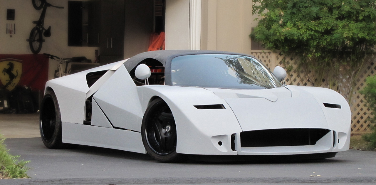 Man Building Ford Gt90 Concept Car Homage In His Garage