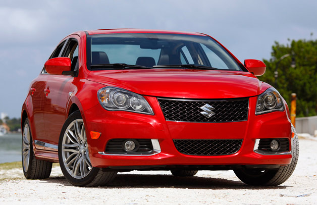 Suzuki Kizashi - red - front three-quarter view