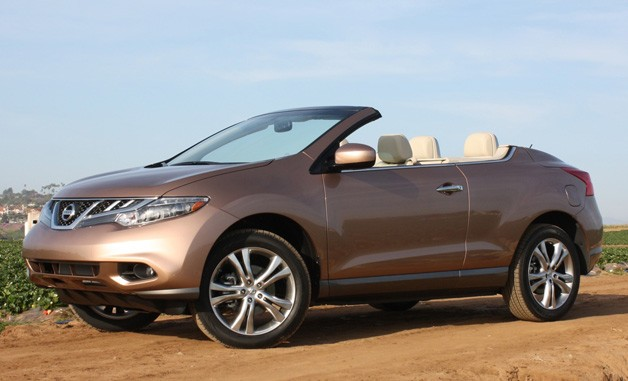 2011 Nissan Murano Crosscabriolet - front three-quarter view, top down