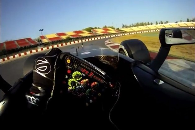 F1 car eye level view