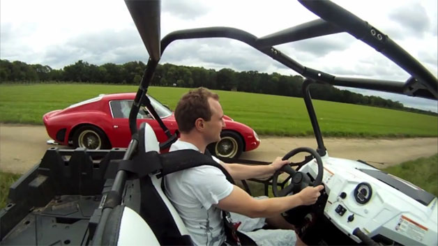 Ferrari 250 GTO vs. Polaris Ranger RZR XP 900 is the most absurd drag
