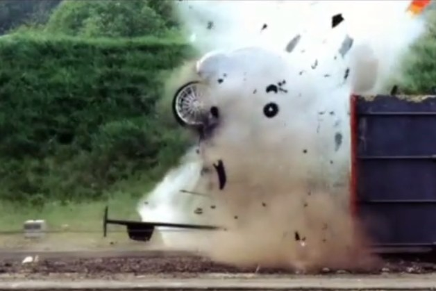 Fifth Gear top speed crash test