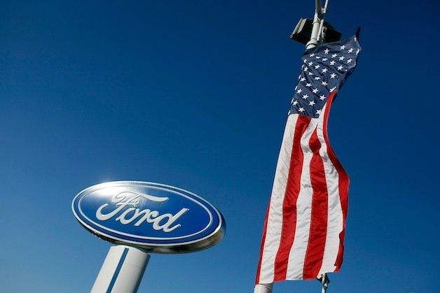 Ford dealership American flag