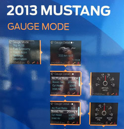 2013 Ford Mustang Gauge Mode