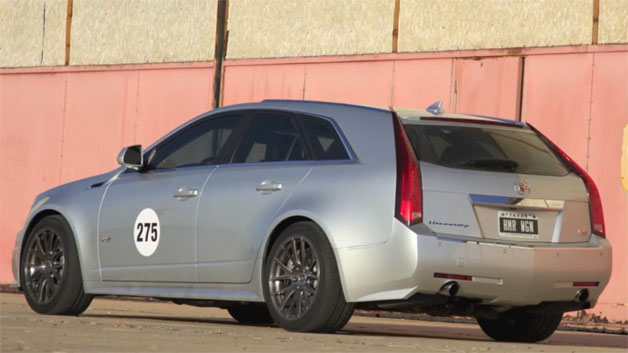 with his 700 horsepower cadillac cts v sport wagon for another shot