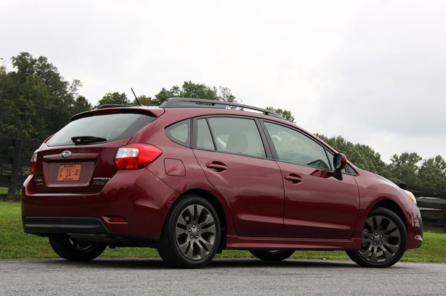 2012 Subaru Impreza rear 3/4 view