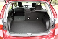 2012 Subaru Impreza rear cargo area