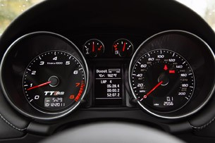 2012 Audi TT RS gauges