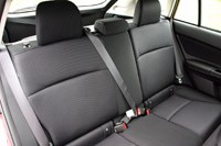 2012 Subaru Impreza rear seats