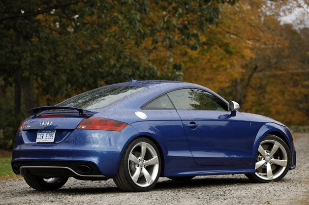 2012 Audi TT RS rear 3/4 view