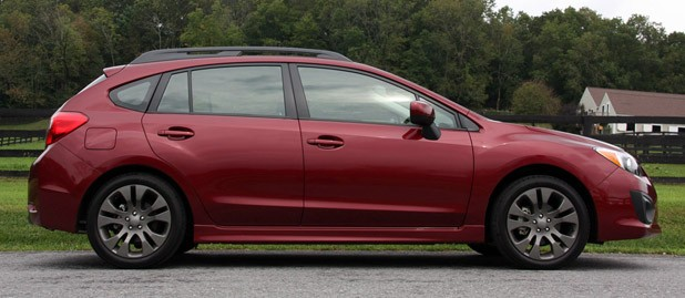 2012 Subaru Impreza side view