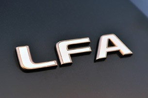 2012 Lexus LFA badge