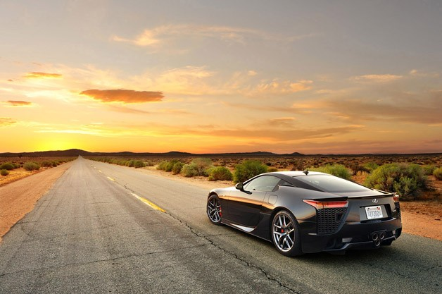 2012 Lexus LFA rear 3/4 view