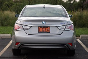 2011 Hyundai Sonata Hybrid rear view