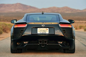 2012 Lexus LFA rear view