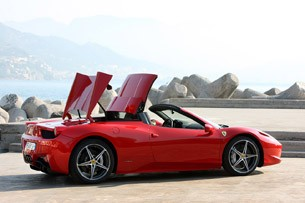 2012 Ferrari 458 Spider convertible top opening