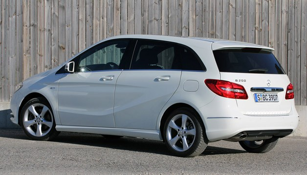 2012 Mercedes-Benz B-Class rear 3/4 view