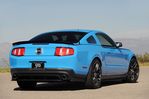 2011 Ford Mustang RTR rear 3/4 view