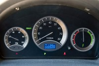 2012 Coda Sedan gauges