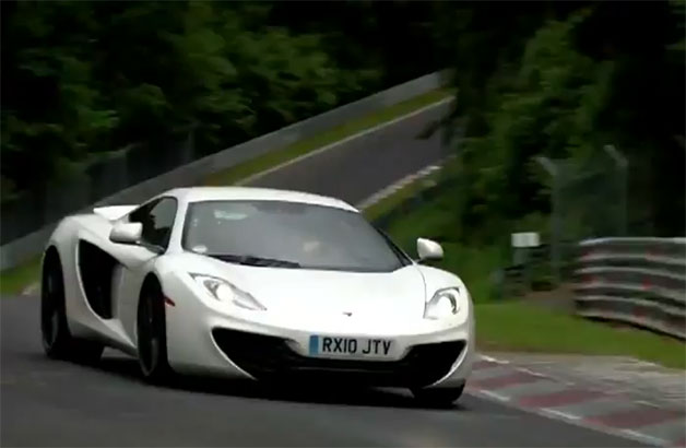 McLaren MP4-12C at the Nurburgring