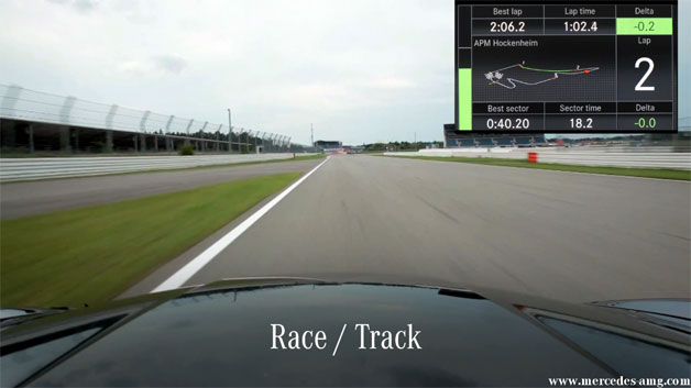 Mercedes-Benz AMG Performance Media telemetry