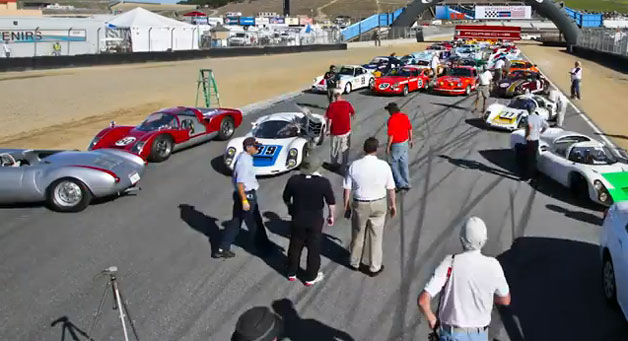 Porsche family photo at Rennsport Reunion 2011