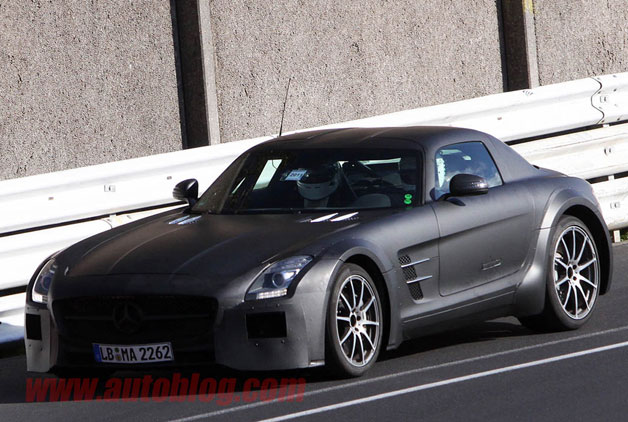Mercedes-Benz SLS AMG Black Series spy photos