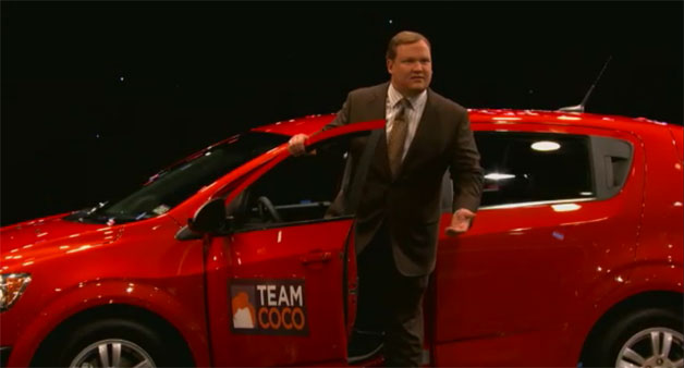 Andy Richter in the Chevrolet Sonic