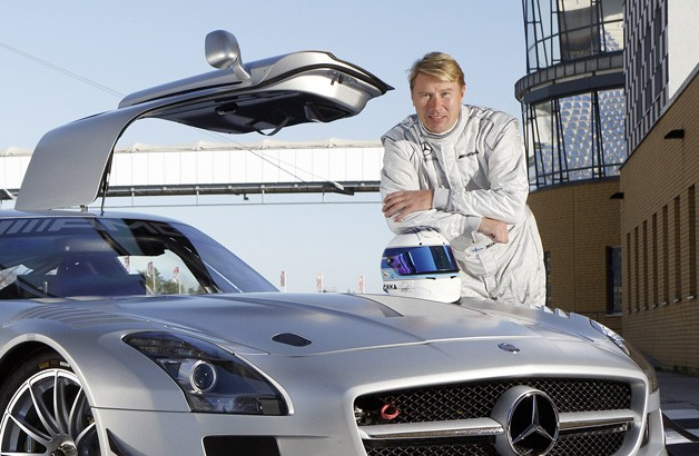 Mika Hakkinen with Mercedes-Benz SLS AMG GT3