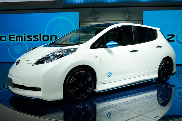 Nissan Leaf Nismo concept on display at Tokyo Motor Show