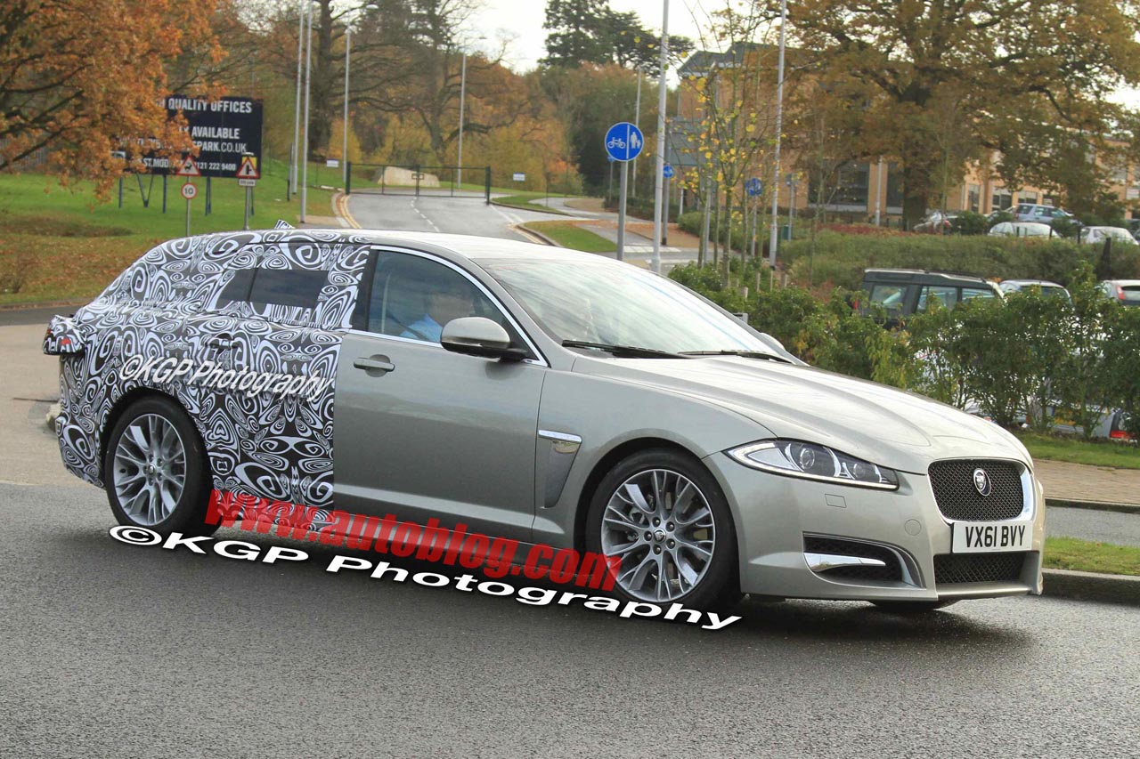 jaguar xf sportbrake wagon caught in the wild autoblog. Black Bedroom Furniture Sets. Home Design Ideas