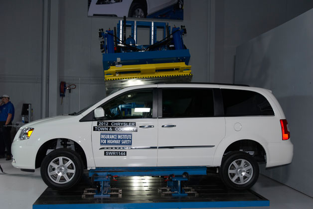 2012 Chrysler Town and Country Roof Strength Test