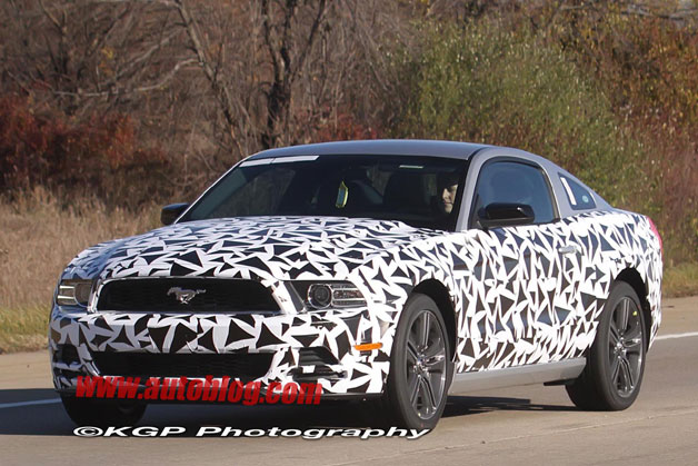 Camouflage Ford Mustang Spy Shots 2013 Ford Mustang
