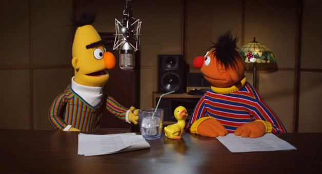 Bert and Ernie of Sesame Street