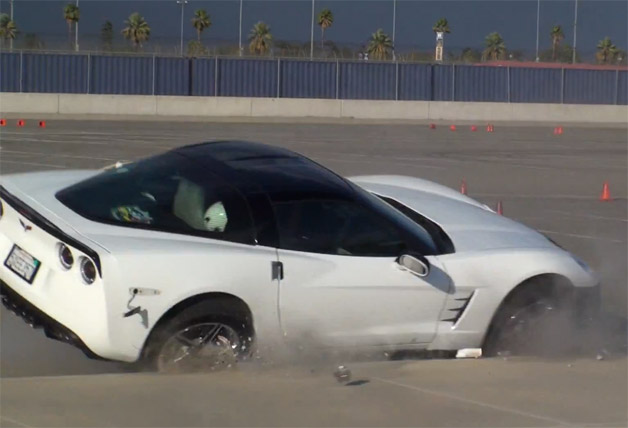 Chevrolet Corvette autocross crash
