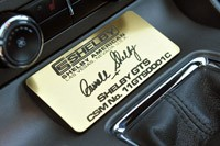 2012 Shelby GTS plaque