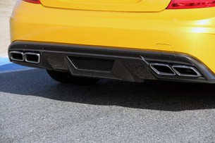 2012 Mercedes-Benz C63 AMG Coupe Black Series rear diffuser