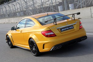 2012 Mercedes-Benz C63 AMG Coupe Black Series on track