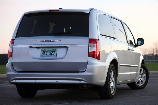 2011 Chrysler Town & Country Touring rear 3/4 view