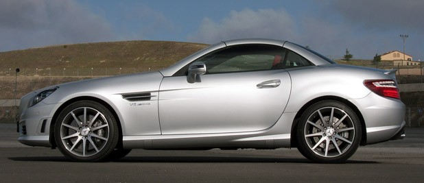 2012 Mercedes-Benz SLK55 AMG side view
