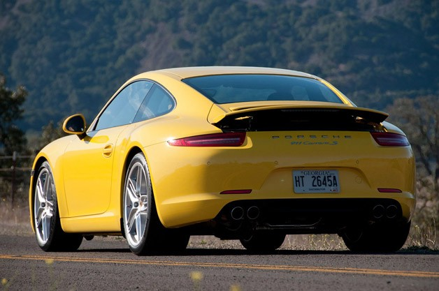 2012 Porsche 911 Carrera S rear 3/4 view