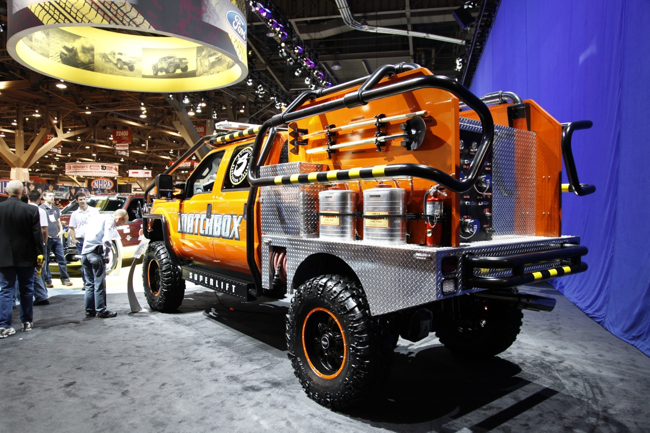 Matchbox 2011 Ford F-350 Super Duty by Superlift suspensions is one hot fire truck - Autoblog